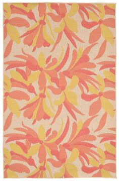 Trans-Ocean Imports PLY58135074 Playa Collection Orange Finish Everywear Rug