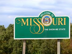 "Missouri's slightly befuddling nickname, ""The Show Me State,"" greets travelers as they cross state lines."