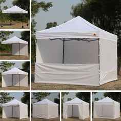 MUST BUY Amazon.com : Abccanopy 10-feet By 10-feet Festival Steel Instant Canopy, Commercial Level, with Wheeled Storage Bag, 6 Removable Zipper End Walls, Bonus 4x Weight Bag (white) : Patio, Lawn & Garden