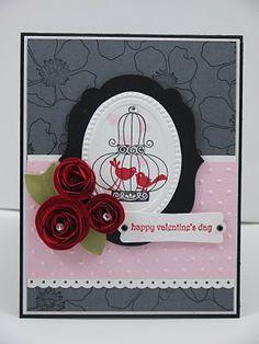 Using the oval Designer Frame embossing folder matted by a Label framelit. Beautiful card - Thanks Jen!