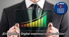 ¡Maximice sus beneficios y minimice sus costos por medio de Marketing Digital!!!
