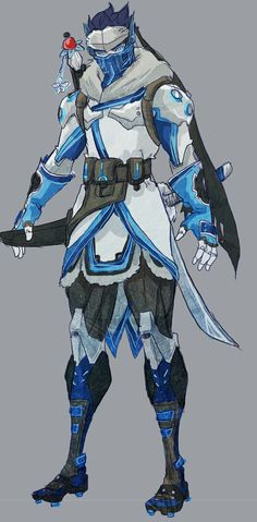 Basically the Sub-Zero of Overwatch if these two were fused x. Genji Overwatch, Overwatch Comic, Overwatch Memes, Overwatch Fan Art, Character Concept, Character Art, Character Design, Overwatch Skin Concepts, Overwatch Costume