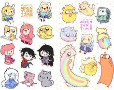sheet of self cut stickers of characters from adventure time! Stickers are not precut and will need to be cut out to use. If you live international and would like cheaper economy shipping with no tracking, you can contact me to make a custom listing. Cute Kawaii Drawings, Kawaii Doodles, Kawaii Chibi, Cute Animal Drawings, Kawaii Art, Anime Chibi, Dibujos Cute, Cute Pokemon, Disney Drawings