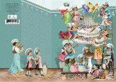 Roger la Borde Glückwunschkarte Doppelkarte Geburtstag Cake Chefs