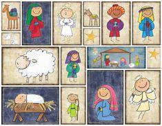 une superbe Nativité... une crèche adorable pour les petits... et des embellissements parfaits pour nos créations...