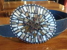 Copper Wire tree of life XLarge Mosaic belt by Studio11Online