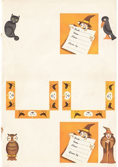 Vintage 1954 Halloween Party Book TO CUT OUT AND Hang UP Whitman Uncut   eBay