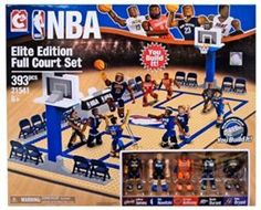 The NBA Construction Elite Edition Full Court Building Set blends basketball and Lego. It will appeal to individuals who love make-believe NBA basketball action [. Building Sets For Kids, Building Blocks Toys, Construction Games, Love And Basketball, Nba Basketball, Old School Toys, Kits For Kids, Toys Online, Lego Sets