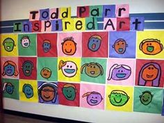 Todd Parr inspired artwork - Good for first week of school activities.