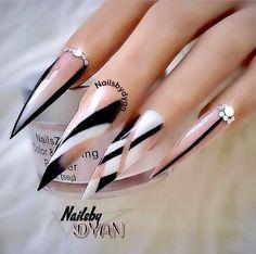 @ Pelikh_ideas Nails - Nail Art - Nageldesign - Best Nail World Sexy Nails, Dope Nails, Glam Nails, Fancy Nails, Bling Nails, Beauty Nails, Pretty Nails, Beauty Makeup, Nail Swag