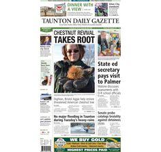 The front page of the Taunton Daily Gazette for Wednesday, Dec. 10, 2014.