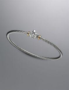 David Yurman Fleur De Lis Cable Bracelet....damn expensive...