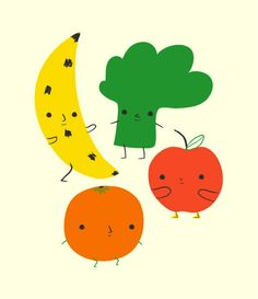 Veggies and Fruit by Michéle Brummer Everett