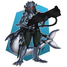 [Commission] Female Aquatic Predator by Ronniesolano on DeviantArt Female Yautja, Aliens, Mode Cyberpunk, Predator Costume, Five Nights At Anime, Black Armor, Interesting Drawings, Humanoid Creatures, Warcraft Art