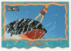 1995 SkyBox Free Willy The Adventure Home On patrol Front Free Willy, Sports Gallery, Trading Card Database, Trading Cards, Adventure, Collector Cards, Adventure Movies, Adventure Books