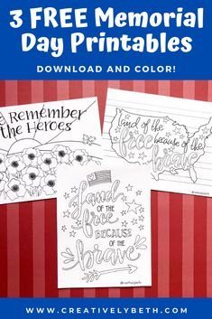 Origin Of Memorial Day, Valentine Banner, How To Make Stickers, Printable Letters, Tombow, Interesting History, Are You Happy, Free Printables, Coloring Pages