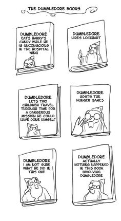 He even gets his own version of the books. | Even More Hilarious Harry Potter Comics That Prove Dumbledore Was Totally Irresponsible