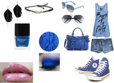 Party in Blue, created by colorfulnay on Polyvore