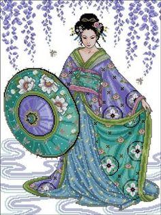 graficos de geishas | Aprender manualidades es facilisimo.com