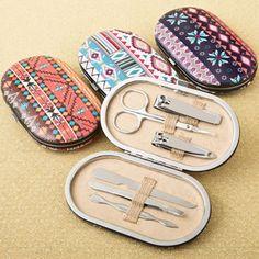 Trendy Aztec Design Travel Manicure Set #manicureset #aztec #travel
