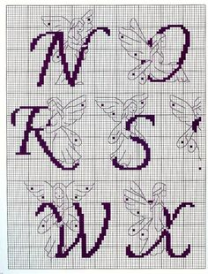 Outlined Fairy Alphabet 3