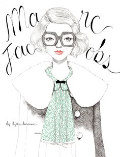 Marc Jacobs by Bijou Karman, via Behance