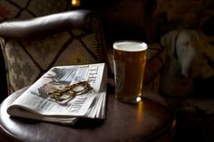 Treat yourself to a pint of ale and time to read the newspaper at the Jockey Bar at The Broadway Hotel