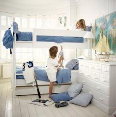 Children love their bunks,mine do too! Cool Bedrooms For Boys, Kids Bedroom, Bunk Beds Boys, Kids Rooms, Childrens Rooms, Kids Decor, Home Decor, Boy Room, Nursery