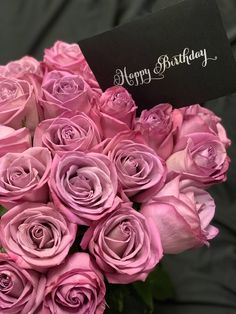 """💜 Mauve roses are a perfect way to say """"Happy Birthday""""! The perfect gift that looks beautiful and smells great too! Happy Birthday Flowers Wishes, Best Birthday Wishes Quotes, Happy Birthday Black, Birthday Cheers, Birthday Roses, Happy Birthday Pictures, Happy Birthday Greetings, Birthday Wish For Husband, Special Holidays"""
