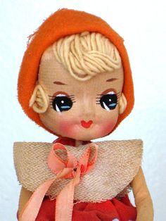 DOll.. Bradley Japanese.. Hand Painted.. Yarn Hair early version & smaller..