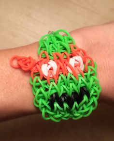 Rainbow Loom - Teenage Mutant Ninja Turtle MICHELANGELO - made with Genuine Rainbow Loom Bands on Etsy, $5.00