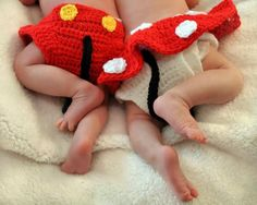 Mickey Mouse Crochet Photo Prop Diaper by HookLineandStinker