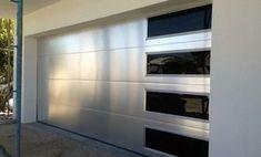 Brush aluminum garage doors by Garage doors 4 Less. Sports Equipment Storage, Garage Door Spring Repair, Sliding Garage Doors, Sectional Garage Doors, Garage Door Springs, Garage Door Styles, Carriage Doors, Cheap Doors, Roller Doors