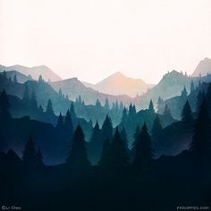 Drawing & Painting Sunset mountains Tips to Help Your Kids Succeed in School All Year Research shows Mountain Mural, Mountain Sunset, Mountain Landscape, Art Mural, Wall Murals, Wall Art, Painting Inspiration, Art Inspo, Bedroom Murals