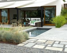 modern concrete patio fire feature modern landscaping dc west construction inc carlsbad ca for the backyard pinterest modern landscaping - Modern Patio Ideas