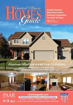 The cover of the March 14th issue is ready for Spring!! Spring is the perfect season for buying or selling. Get a jump start today by viewing the Central Illinois Homes Guide, the Greater Peoria Area's home hunting companion. #Central #IL #homesforsale #buying #selling #realestate #spring