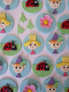 Ben and holly cupcake toppers Ben N Holly, Ben And Holly Cake, Harry Birthday, Third Birthday, 5th Birthday Party Ideas, 3rd Birthday Parties, Ben And Holly Party Ideas, Cupcake Toppings, Cake Push Pops
