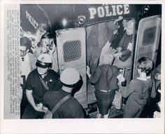 Draft demonstrators arrested in 1967 during the Vietnam War.