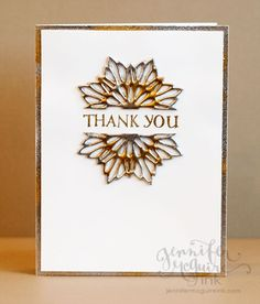 Video showing how to create faux metal embellishments from die cuts. Jennifer McGuire