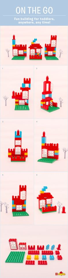 Home is where the heart is! Have fun building these houses, using just a few LEGO DUPLO bricks :-) You can find great ideas for when you are on the move here: http://www.lego.com/en-us/family/articles/story-starters-an-endless-world-of-playhouses-e89b7b2e719b493cb8c0951e5750e223