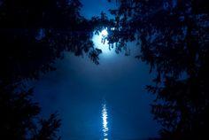 .Blue Moon by Béla Török  @redbubble
