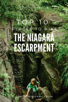 Hiking the Niagara Escarpment: Top 10 Hikes - The Driftwoods Family: Explore the rugged hiking trails of Southern Ontario to see limestone cliffs, caves, and waterfalls Hiking Guide, Hiking Trails, Canadian Travel, Canadian Rockies, Ontario Parks, Ottawa Ontario, Cool Places To Visit, Places To Travel, Ontario Travel