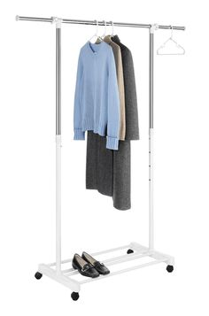 Walmart Clothes Hanger Rack Mesmerizing Adjustable Garment Rack For Inside Of Poorly Planned Closet Diy Decorating Inspiration