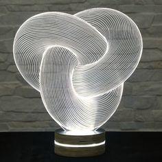 3D LED Lamp, Tube Shape, Decorative Lamp, Home Decor, Table Lamp, Office Decor, Plexiglass Art, Art Deco Lamp, Acrylic Night Light