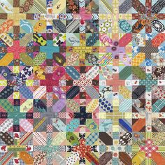 Japanese + and X Quilt - Great for using up scraps.