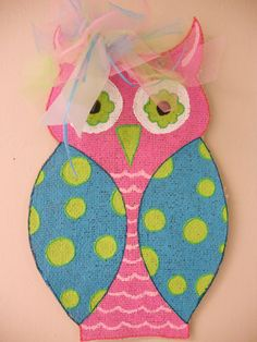 Cute Burlap Hoot Owl by ashleyshinton on Etsy. $12.00, via Etsy.