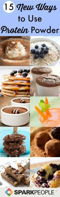 YUMMMMMM... 15 Deliciously Healthy Ways to Use #Protein Powder #recipes #protein                                                                                                                                                                                 More