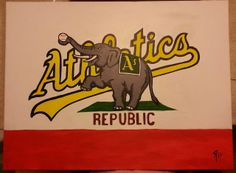 Oakland Athletics Republic Flag. | 18th Letter Art