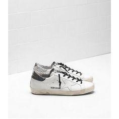 sports shoes 4c84a 427bb Nouveau Golden Goose Super Star Femme GGDB Sneakers Blanc Noir Soldes Gold  Sneakers, Sneakers Sale