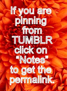 Some people don't know how to pin from Tumblr (me included) - heck, I'm on Tumblr and had trouble finding what and where to click to get the permalink!